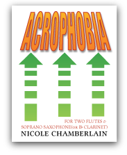 Acrophobia for two flutes and soprano saxophone or clarinet