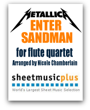 Metallica's Enter Sandman for flute quartet