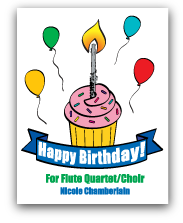 HappyBirthday for flute quartet/choir
