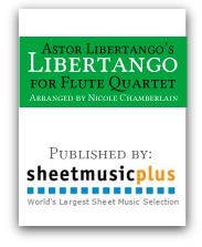 Libertango for flute quartet