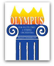 Olympus for flute trio and string orchestra