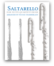 Saltarello for flute quartet/choir