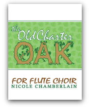 The Old Charter Oak for flute choir