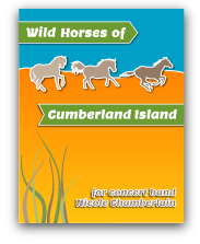 Wild Horses of Cumberland Island for concert band